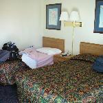Beds at the Econo Lodge Reno