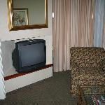 View of chair and TV