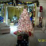 Graceland Living Room during Christmas