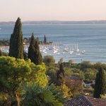 View from our hotel room of Bardolino Harbour