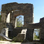 Inside church ruins