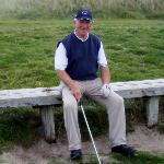 Gerry on the 14th tee at Carne