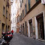 Via dei Chiavari and the hotel