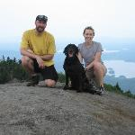 At the summit of Mount Ampersand (Adirondack Park, near Lake Placid, NY)