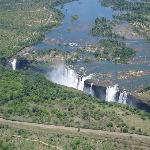 Vic Falls from helicopter