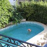 Pool with thermal water