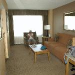 Living room of suite