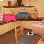il gatto nella sal da pranzo