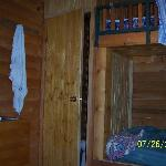 Cabin interior-bunks, small bath