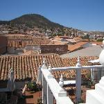 view from top terrace over roofs of Sucre