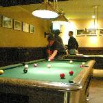 pool tables in hotel bar