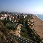 Strand anhöhe Leuchtturm
