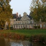 Chateau view from pond