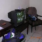TV and chair