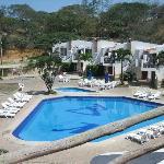 Baja Montanita's pool area