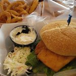 Bartley's Dockside Dining - haddock sandwich