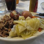 Durgin Park - corned beef & cabbage