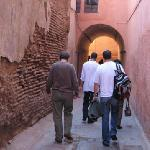 Walking through a maze of streets to Riad