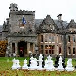 Giant chess on Inverlochy's front lawn