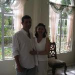 My husband and I spending our last few minutes in St Lucia at Zamaca