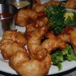 Jumbo Tempura Shrimp at the Driftwood Inn, Cannon Beach, Ore
