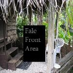 Front of the Fale
