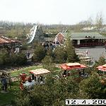 Log flume (water splash) & train