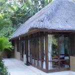 left side of villa