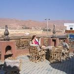 On the communal terrace