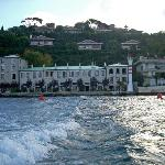 The hotel from the Bosphorus