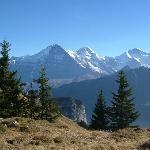 Eiger, Mönch and Jungfrau from Schynige Platte