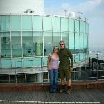 My boyfriend and I at the Seoul Tower
