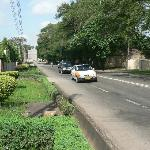 Road outside hotel - pleasant suburb
