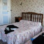 Our twin bedded room