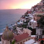 Positano sunset from room 80's balcony.