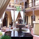 Inside courtyard