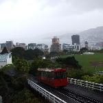 A rainy view over Wellington