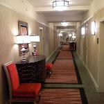 A typical hallway at the hotel.