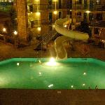 out side pool at night