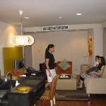 Living room of the 2 bedroom suite