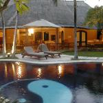 Private Pool and living area