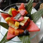 Mixed fruit at breakfast