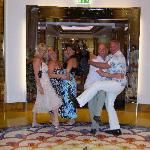 Lift to the skybar at the Burj