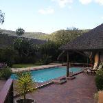 View of the pool area at Lobengula Lodge