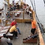 Pase en barco por el rio Guayas