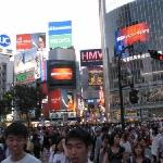 The 'Crossing' at Shibuya, next to teh hotel (but rooms are well shielded from road noise).