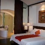 Chambre avec jardin tropical