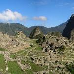 The entrance to Machi Picchu