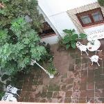 a view from our room - the hotel's patio