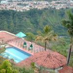 Vista de la piscina desde la cabaña